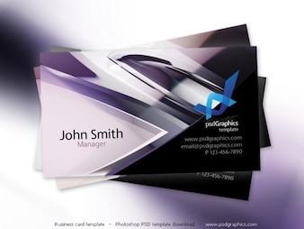 Abstract design oi-tech, modelo de cartão de visita