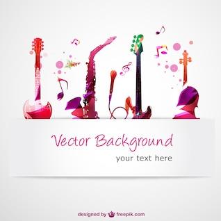 Abstract vector guitarras música