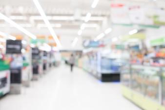 Abstrato borrão supermercado