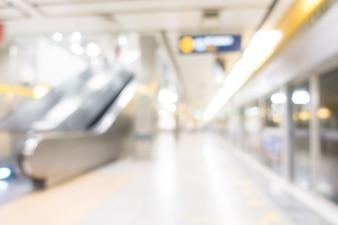 Abstratos, borrão, subway, estação