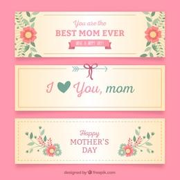 Agradáveis mães banners dias