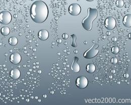 água vetor das ações cair