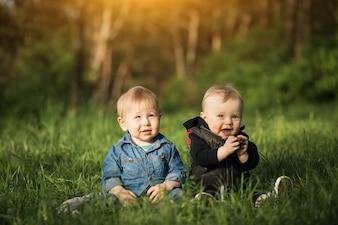 Alegria crianças amizade harmonia jardim de infância