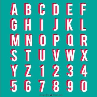 Alfabeto e números
