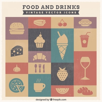 Alimento e bebida ícones