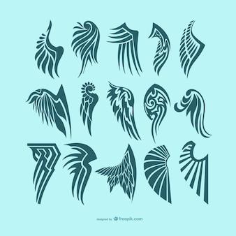 Asas de anjo tatuagens