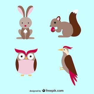 Animais desenhos animados