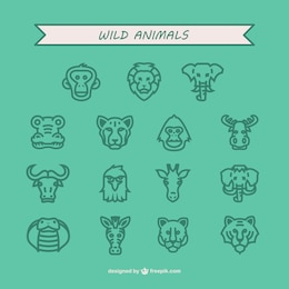 Animais silvestres Icon Pack