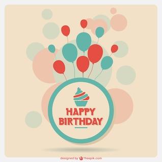 Aniversário cartão do molde