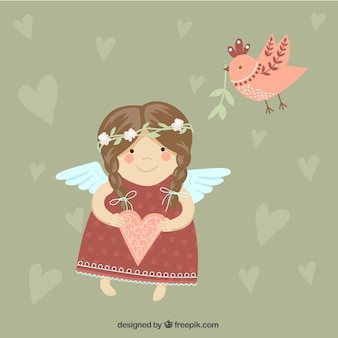 Anjo bonito menina