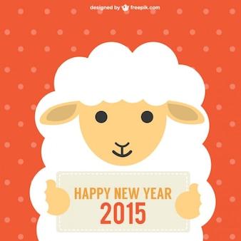Ano Novo Chinês com ovelhas
