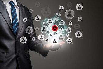 Aplicação empresariais negócios digitais humanos