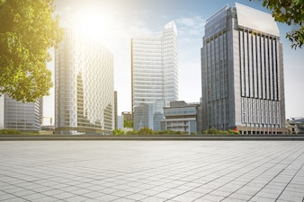 Arquitectura da cidade de parque cópia estrada de mármore