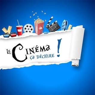 Arrancar etiqueta de papel coberto com elementos do filme
