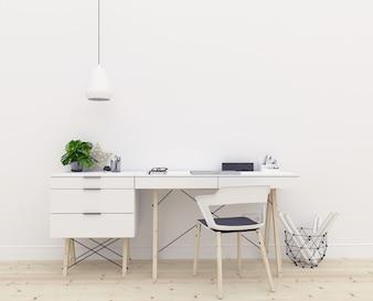 Art mockup - desk - workspace