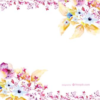 Arte flores da aguarela do vetor