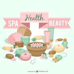 Arte spa de saúde e beleza vetor