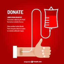Arte transfusão de sangue vetor