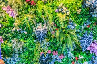 Árvore padrão natural verão folhas coloridas
