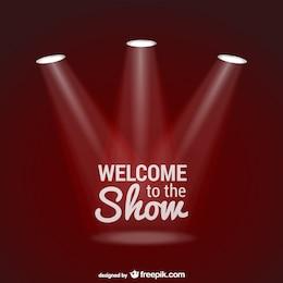As boas-vindas ao vetor show com holofotes