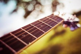 As cordas da guitarra