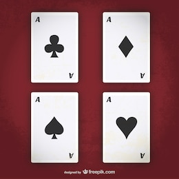 ás do póquer vector