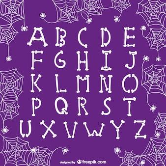 As letras do alfabeto para o dia das bruxas