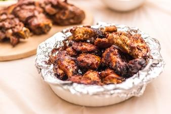 Asas de frango bem feito