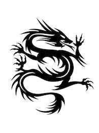 Ascendente figura cobra dragão