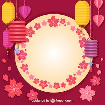 Lâmpadas e decoração asiática