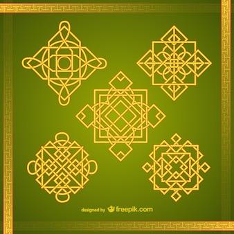Asiáticas ornamentos embalar