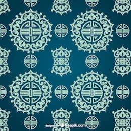 Asiático ornamental padrão