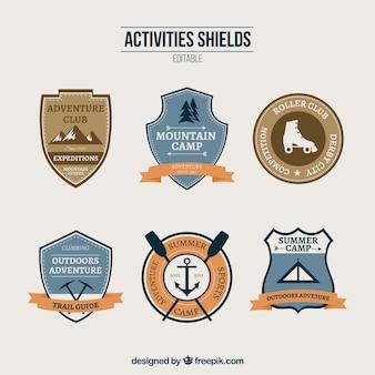 Atividades escudos