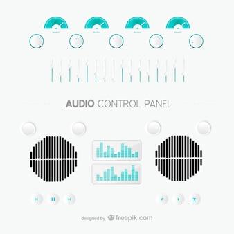 Painel de controle de áudio