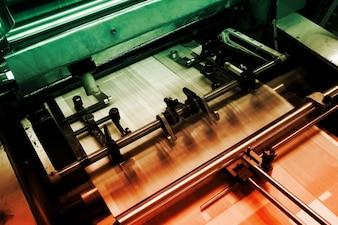 Automação de impressão tecnologia máquina de fábrica