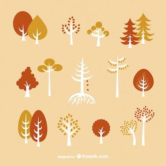árvores de outono embalar