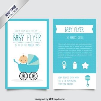 Azul bebê panfleto