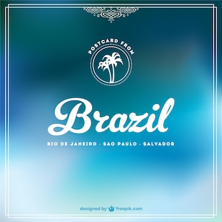 Azul Brasil livre fundo