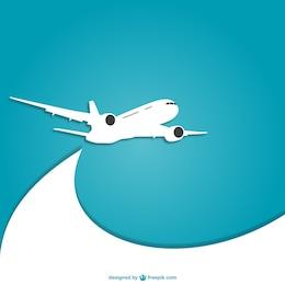 Azul e branco avião vector