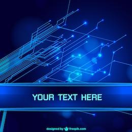 Azul tecnologia fundo abstrato