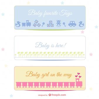 Banners bebê set
