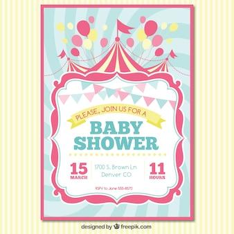 Cartão do convite da festa