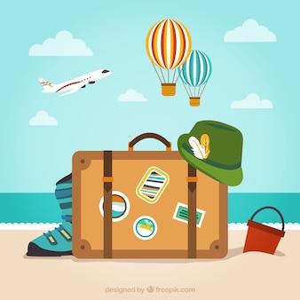 Bagagem para férias