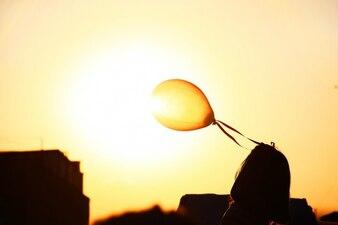 Balão e a luz do sol