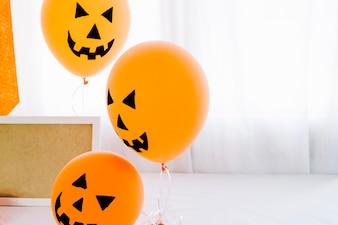 Balões de laranja de Halloween