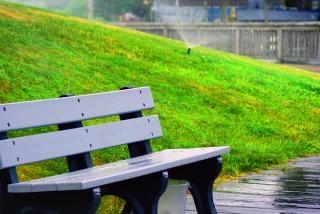 banco de jardim, a natureza