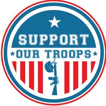 Bandeira americana com texto colorido adesivo
