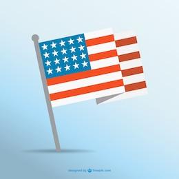Bandeira americana livre do vetor da arte