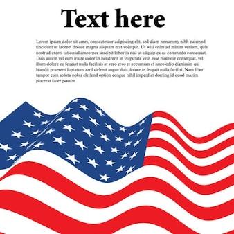 Bandeira americana ondulado com folha de papel