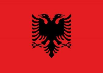 Bandeira da Albânia. Ilustração da bandeira albanesa.